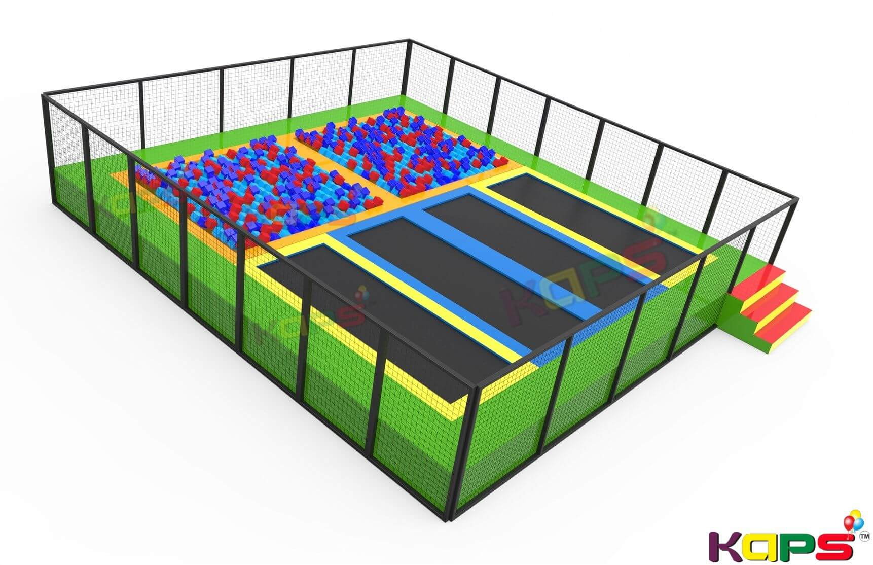 Indoor play equipment firehouse design plans new for Indoor trampoline park design manufacturing